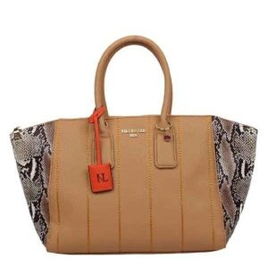 Nicole Lee Emerson Faux-Snakeskin Tote Bag